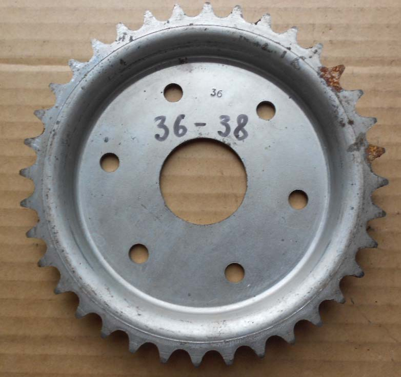 couronne 36 dents 38 mm