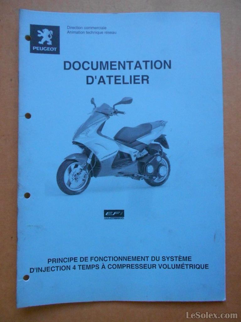 documentation d'atelier peugeot scooter principe du fonctionnement d'injection 4 temps à compresseur volumetrique