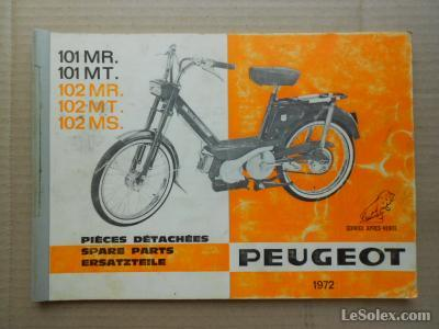 Catalogue pieces detachées peugeot 101 102 1972